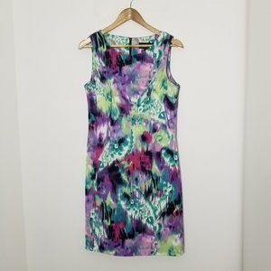 Connected Apparel | Watercolor Floral Sheath Dress